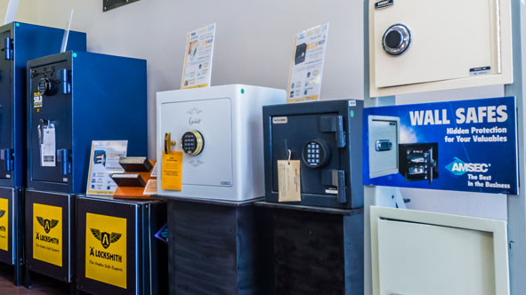 Floor and Wall Safe Showroom in Naples, Florida - A Locksmith Naples